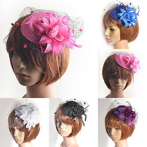 lady-women-hair-accessory-clip-pillbox-hat-flower-veil-fascinator-wedding-party