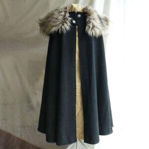 d5fbe4c5 Retro Medieval Celtic Viking Wool Pirates Coat Cloak Winter Men and ...