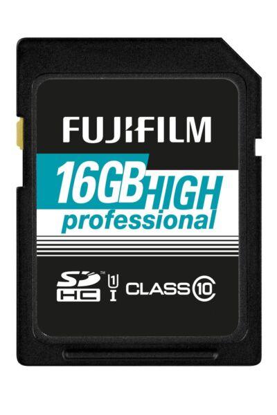 Fujifilm 16gb Haut Professionnel Intégral Sdhc Classe 10 Carte Mémoire