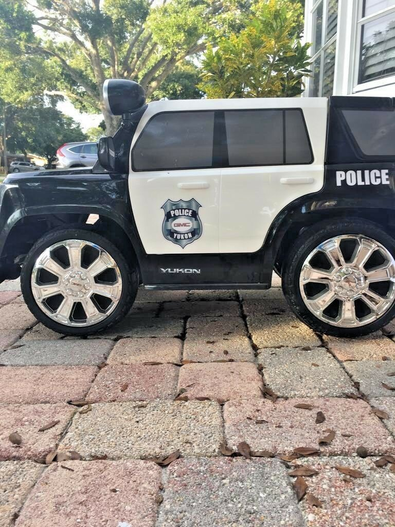 KIDS ELECTRIC Car 6V GMC YUKON SUV Police  Ride On Vehicle - MINT. ST Pete 33709