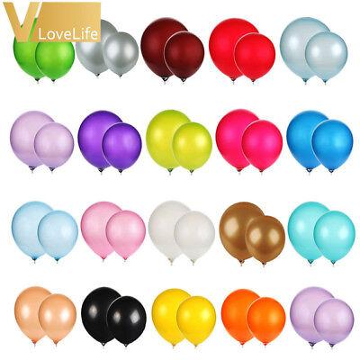 "20 X Latex 10/"" PEARL Metallic BALLOONS BALLONS helium BALOONS Birthday Wedding"