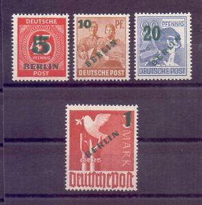 Berlin-1949-Aufdruck-MiNr-64-67-postfrisch-geprueft-Michel-250-00-434