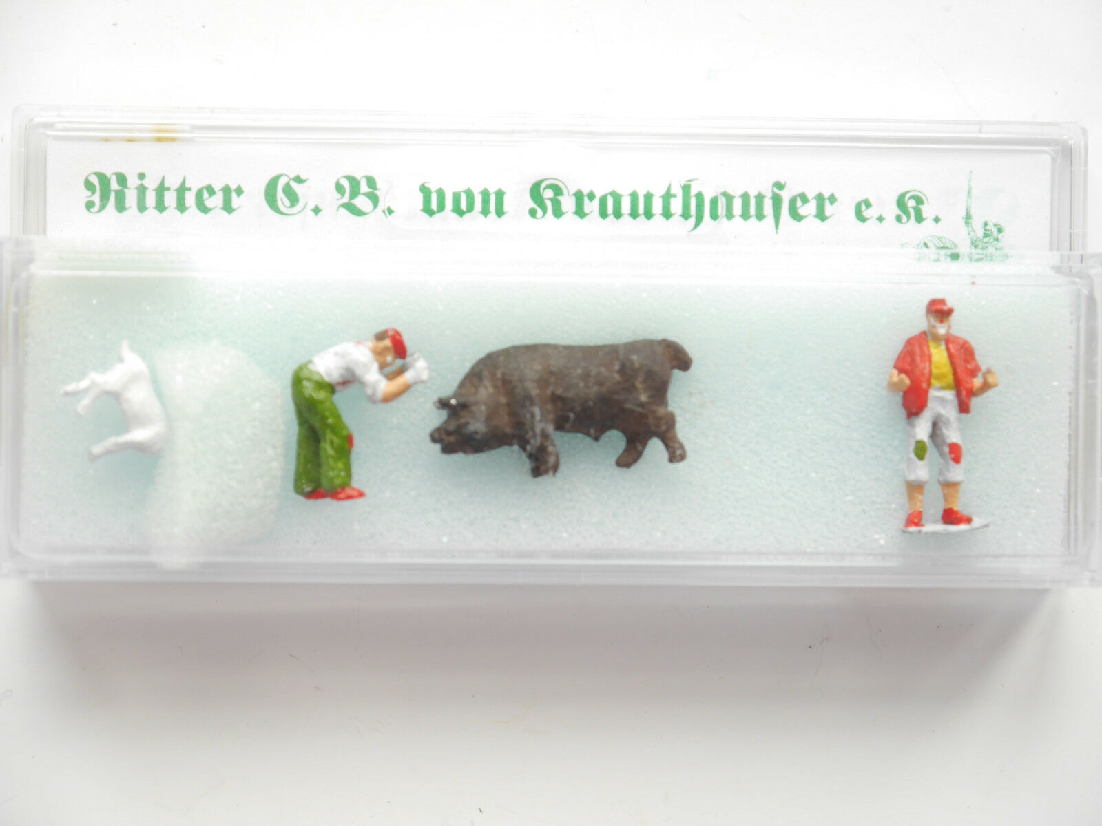 Set  Circus Circus Clown swine Goat, Knight of krauthauser 87137 1 87 h0 Boxed