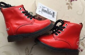 Armani Junior Baby Boots Girls Red