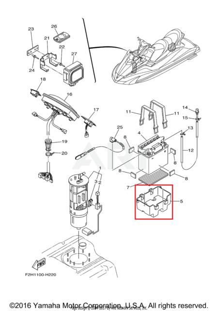 Yamaha WaveRunner XL 800 Battery Box Tray Strap 700 760 1200 GP XLT SUV FX  HO VX