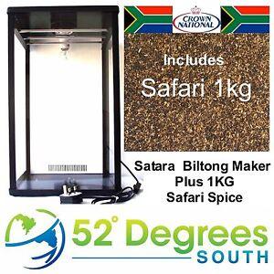 Satara-Biltong-Fabricante-con-1kg-Especias-Biltong-Caja-Beef-Jerky-Deshidratador