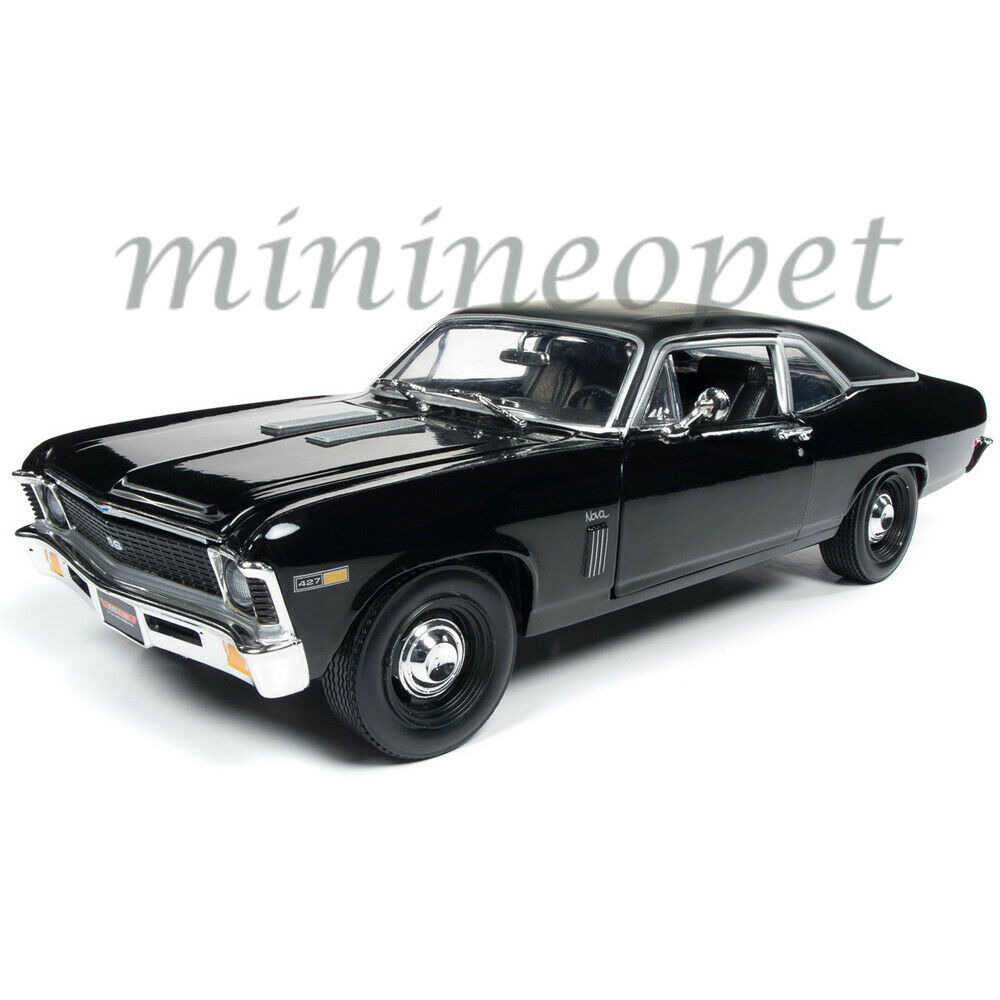 AUTOWORLD AMM1178 1969 CHEVROLET YENKO NOVA SS 1 18 DIECAST CAR schwarz MCACN