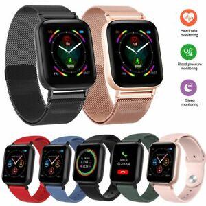 Touchscreen Smartwatch Pulsuhr Fitness Tracker Armbanduhr für iPhone Samsung LG