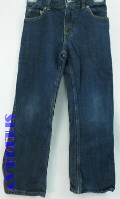 10R, Black Faded Glory Boys Relaxed Fit Blue Jeans with Adjustable Waist