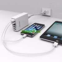 40w 8a 5-port High Speed Usb Charger 2.4a Output For Iphone Samsung Lg Htc Sony