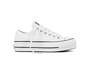 Converse-scarpe-donna-Chuck-Taylor-All-Star-Platform-Canvas-Low-Top-bianco