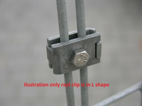 Zinc Plated Mesh Fixing Clip L Shape Connector Wire Fencing