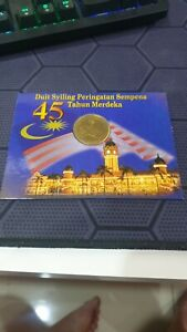MALAYSIA-2002-45TH-YEARS-INDEPENDENT-MERDEKA-COIN-CARD