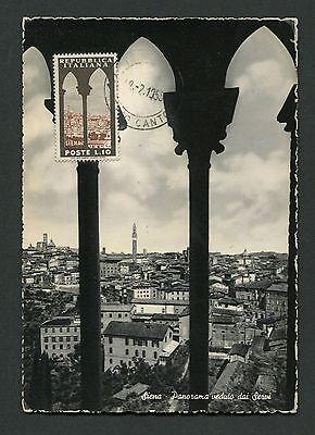 Herzhaft Italien Mk 1953 Siena Panorama Maximumkarte Carte Maximum Card Mc Cm C8991 Rheuma Lindern