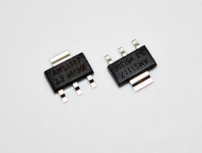 10Pcs Voltage Regulator AMS1117-3.3 LM1117 3.3V 1A SOT-223 WFAU
