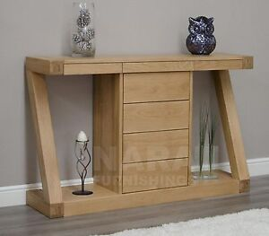 zaria solid oak designer furniture console hallway