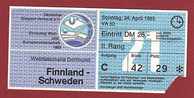 Orig.Ticket Eishockey WM Deutschland 1983 FINNLAND ...