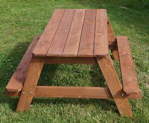 Sitzmobel Kinder Gartentisch Bank Set Holz Piknic Garten Sandkasten