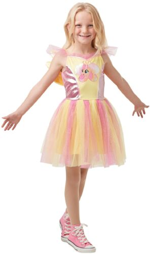 Girls Deluxe Fluttershy My Little Pony Movie Book Day Fancy Dress Costume Outfit