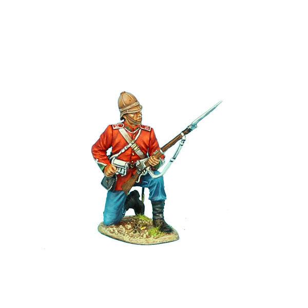 FIRST LEGION Zulu War ZUL006 British 24th Foot Kneeling Loading Painted Metal