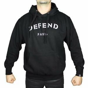NEW DEFEND PARIS MEN/'S PREMIUM CUT OFF HOODIE SWEATSHIRT JACKET BLACK SS1514