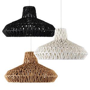 Round rattan wicker style modern ceiling pendant lamp light shades la foto se est cargando ronda de ratan estilo de mimbre colgante de aloadofball Image collections
