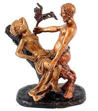 Erotische Wiener Bronze - Liebestoller Faun / Satyr - 2-teilig - signiert