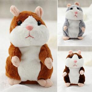 Mignon parler hamster peluche jouet SON ENREGISTREMENT chat cadeau bebe