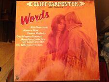 LP Cliff Carpenter >Words<  Hansa Near Mint
