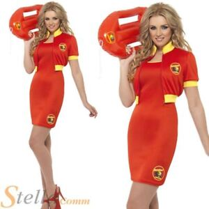 Ladies-Baywatch-Beach-Lifeguard-Costume-80s-Fancy-Dress-Womens-Outfit