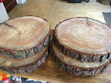 "4 Rustic logs approx 12"" (30cm) wedding / table centerpieces, cake stands"