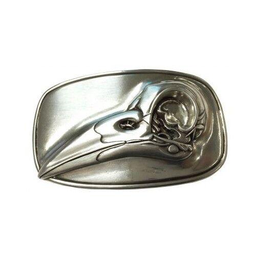 Cintura fibbia OLD imitazioni 4,0 cm RETTILE SQUAME Uccelli Uccelli becco