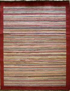 Rugstc-4-5x7-Senneh-Gabbeh-Multicolor-Alfombra-Vegetal-Tinte-Anudado-a-Mano
