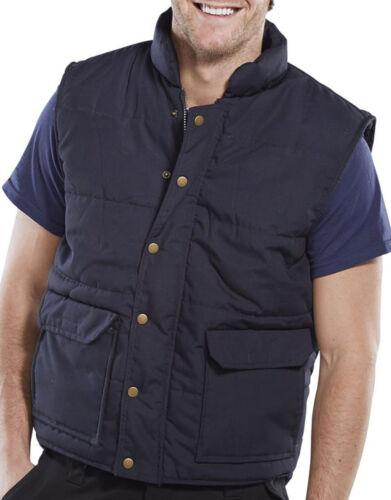 Click Workwear Quebec Foderato in Pile Gilet Imbottito Blu Navy-Q