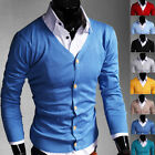Maglia Maglione Cardigan Uomo s106 Slim-Fit Men Long Sleeve sweater 8 COLORS