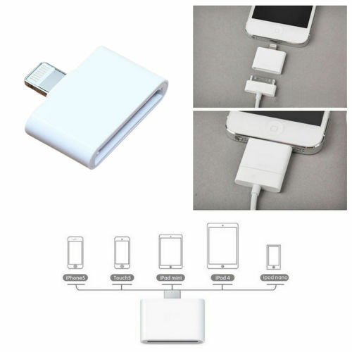 30 Pin to 8 Pin Converter Adapter Adaptor for iPhone 4 to iPhone 6s,6,7 & 5 iPad