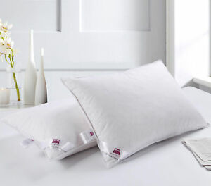 2 X Luxury Duck Feather & Down Pillow Comfortable Extra Filling Hotel Quality 7426763702525