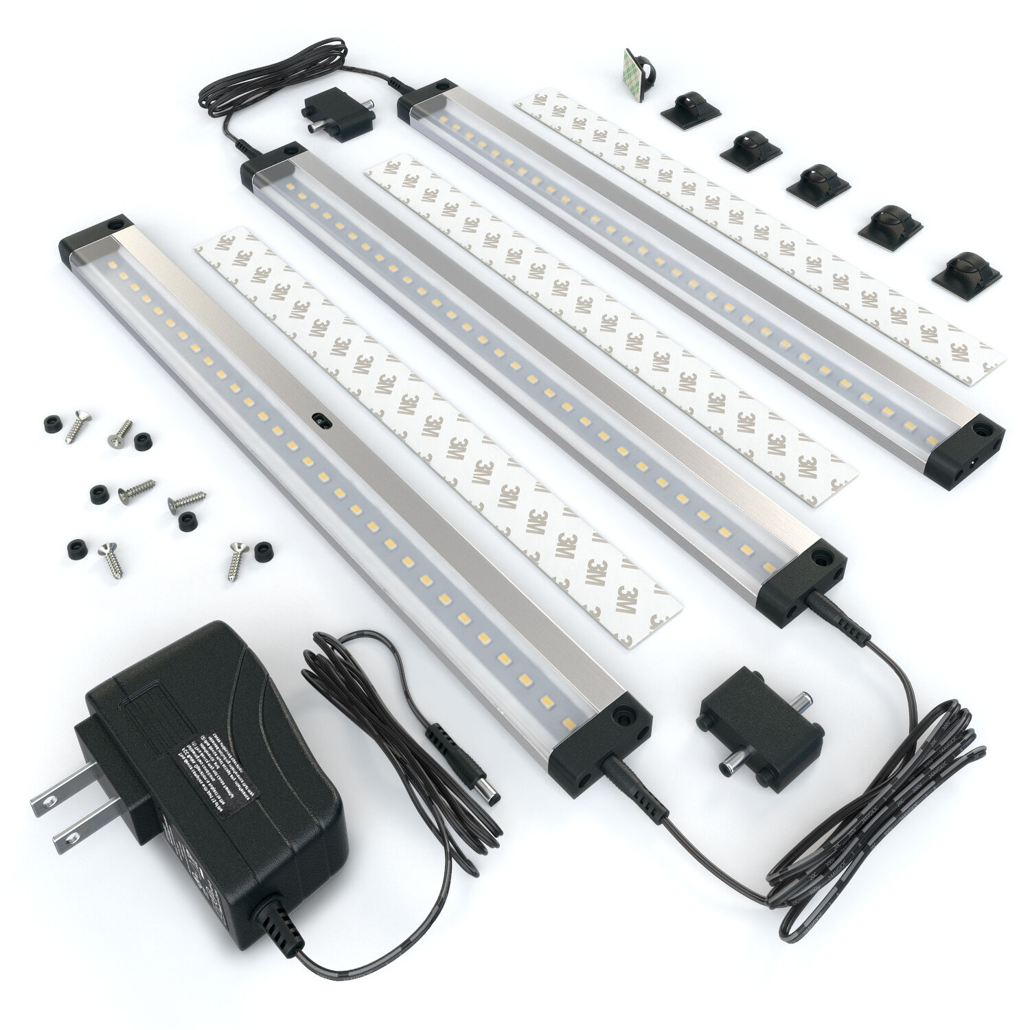 Details About Eshine 3 Panels 12 Inch Led Dimmable Under Cabinet Lighting Kit Cool White
