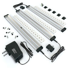 EShine 3 12 Inch Panels LED Dimmable Under Cabinet Lighting Kit, Hand Wave