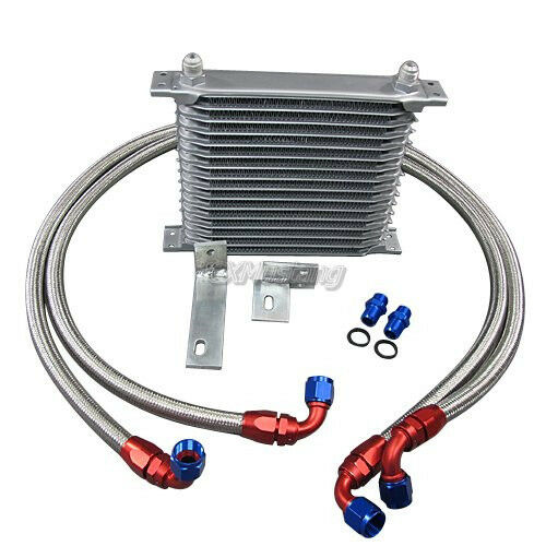 CX Alum Engine 16 Row Oil Cooler Kit For Mitsubishi 3000GT Dodge Stealth Turbo
