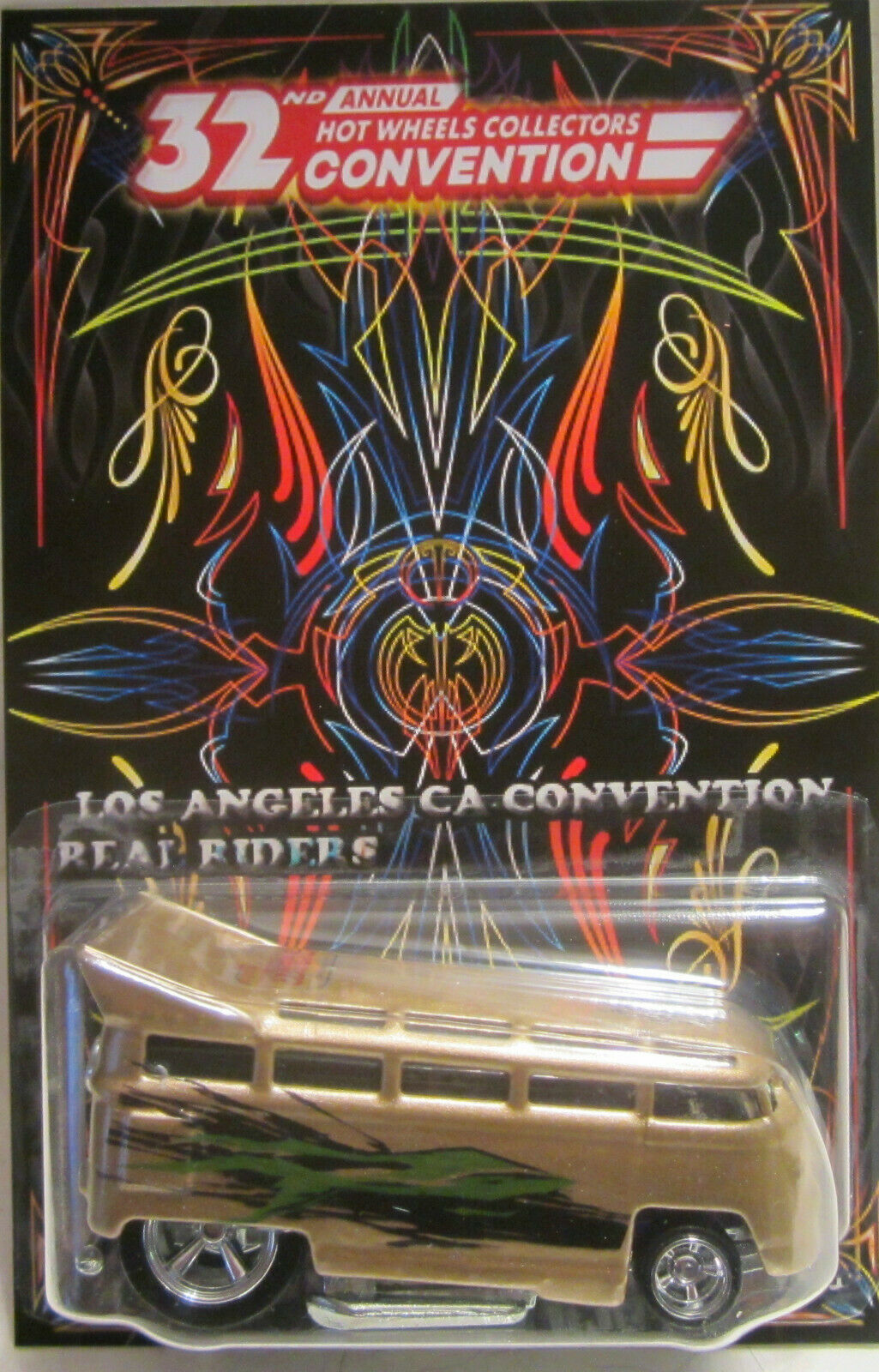Personnalisé Volkswagen Drag Bus 32nd Hot Wheels Convention Real Riders Limité