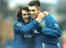Gianfranco ZOLA & Roberto Di Matteo Signed Autograph 16x12 Photo AFTAL COA CFC