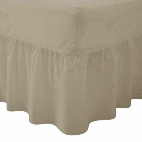 CLEARANCE Dyed Easy Care PolyCotton Fitted VALANCE Sheet Single Colour silver