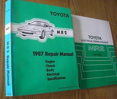 (2) 1987 Toyota *** MR2 *** ** repair shop service manual ...