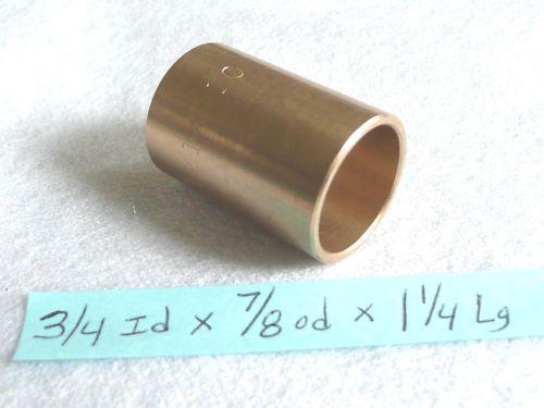 Bronze Bushing Bearing New 3//4 id x 7//8 od x 1 1//4 Brass bearing bush sleeve B32