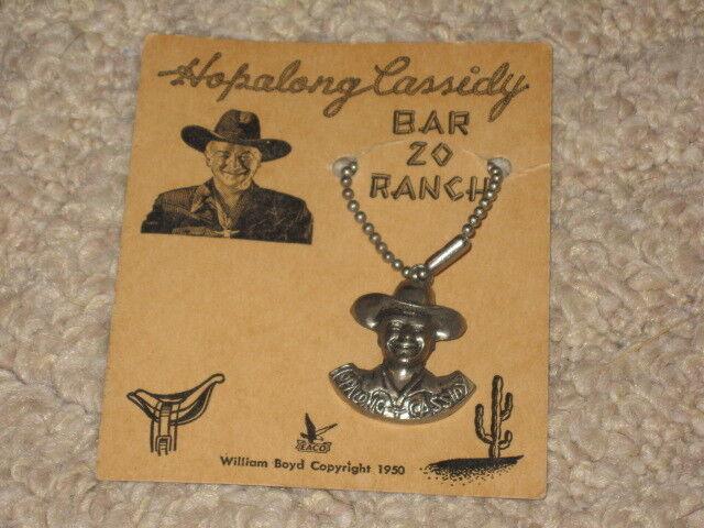 Bar 20 Ranch  Llavero de Metal con troquelado Hopalong Cassidy