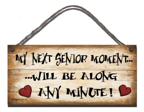 SHABBY CHIC FUNNY WOODEN SIGN MY NEXT SENIOR MOMENT  GIFT PRESENT 49