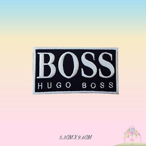 Hugo Boss Brand Embroidered Iron On /Sew On Patch Badge For Clothes Bags