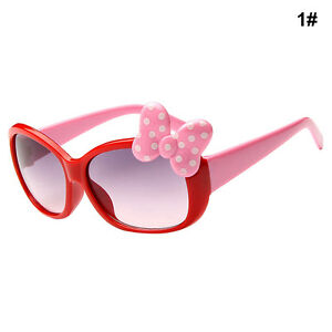 Kids Girls Boys Bow Glasses Sunglasses Cartoon Style Fashion 8 Color Gift