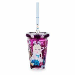 Disney Authentic Frozen 2 Anna Elsa Water Bottle Kid Drink Cup Tumbler Olaf Sven